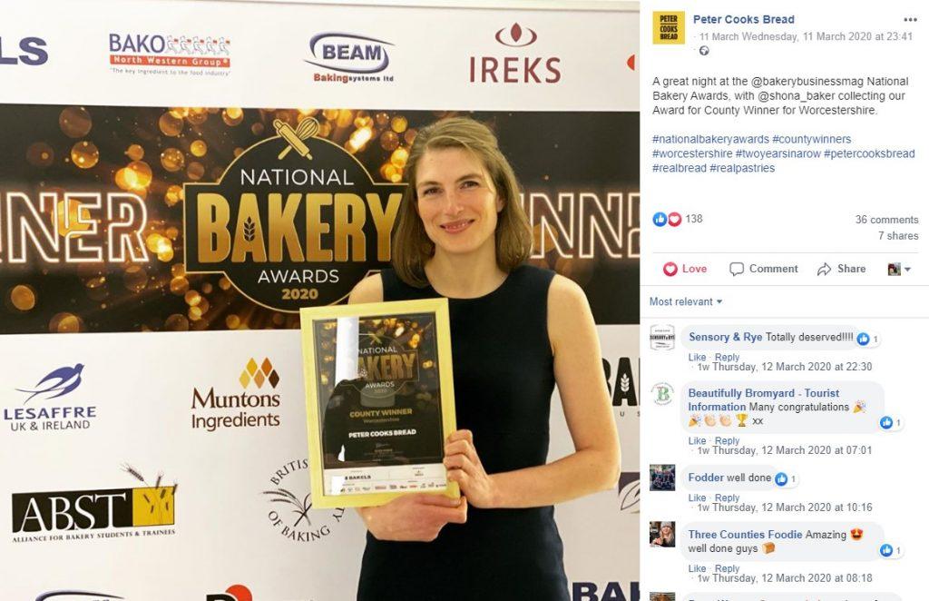 Peter Cooks Bread award
